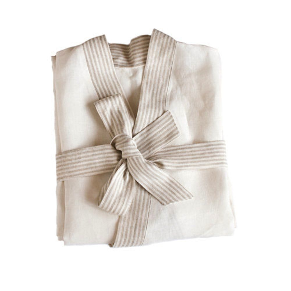 b87840165a High quality bathrobes make the end of your long day a little more relaxing.  Made from 100% pure linen