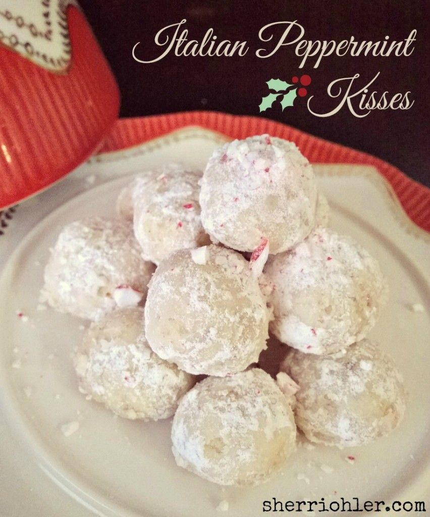 Easy Christmas Cookies: Italian Peppermint Kisses - Melt in your ...