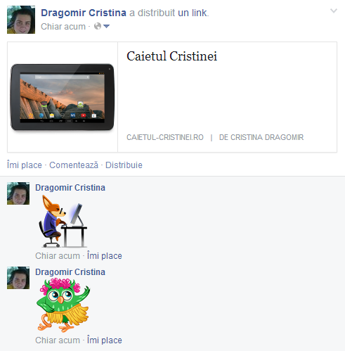 Facebook dă liber la emoticoane în comentarii | Caietul Cristinei