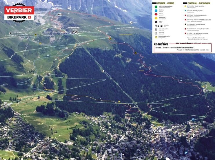 Verbier bike map Maps Pinterest Switzerland