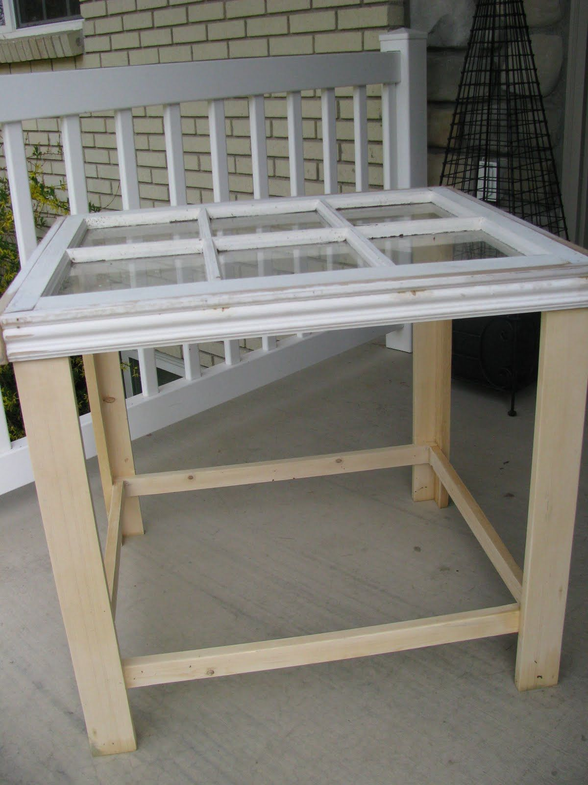 Window pane ideas  build a window pane table perfect idea for the window i have
