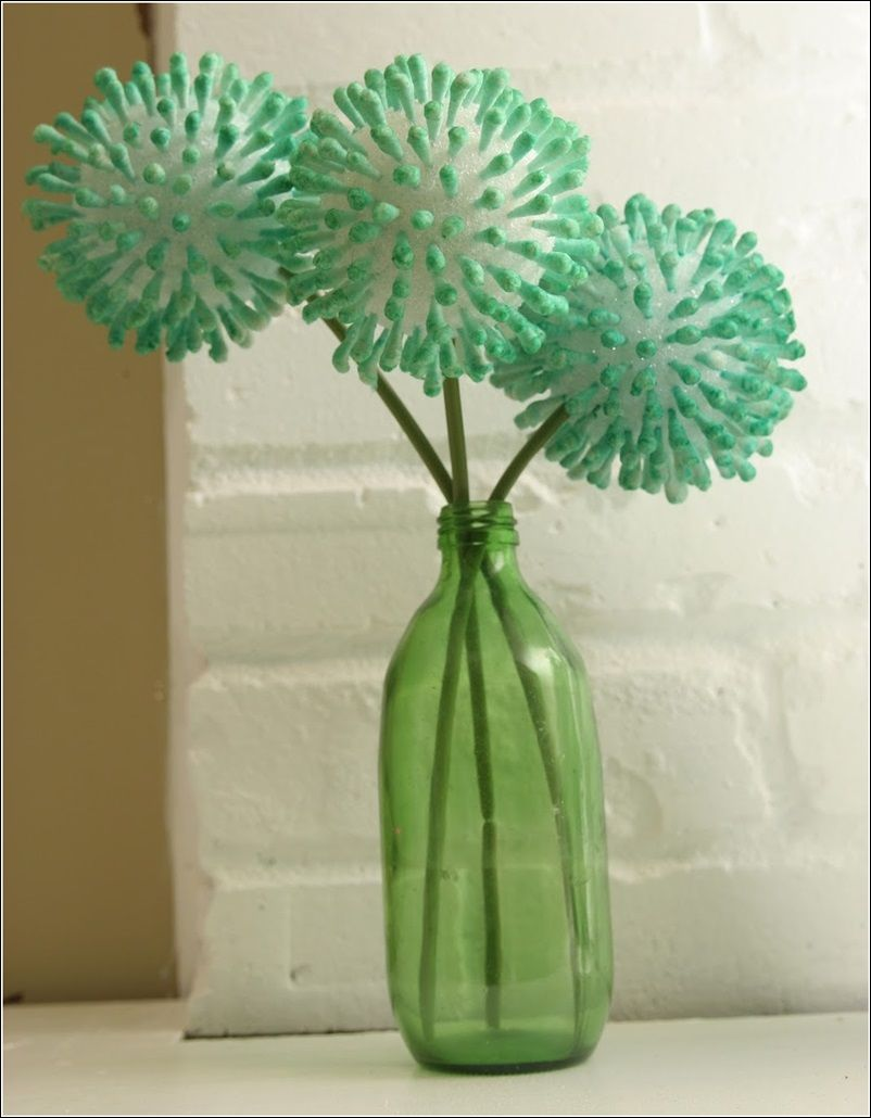 just using styrofoam balls & Q-tips you can create this very simple but  unique