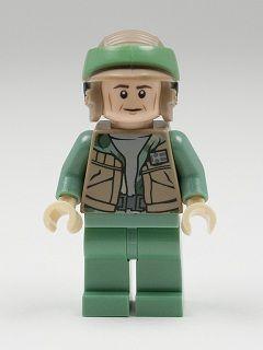 LEGO Star Wars Dark Tan Rebel Commando Minifig Helmet