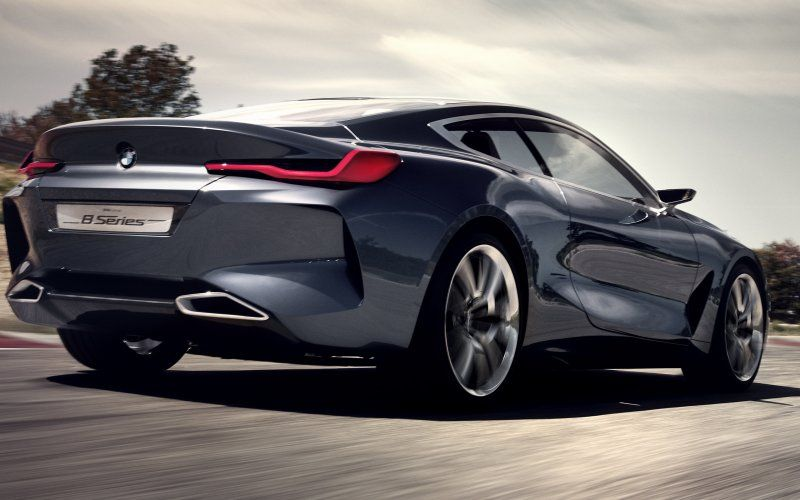 wallpaper bmw concept 8 series car on road rear 2018 cars rh pinterest com