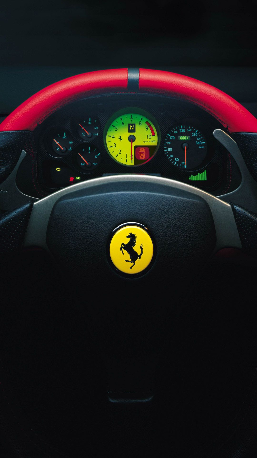 Ferrari 360 Challenge Stradale Steering Wheel Car Mobile Wallpaper 1080x1920 6790 1609967540