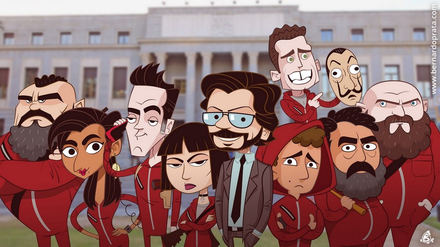 La Casa De Papel Background Tim Với Google Wallpaper Anime Gambar Hiburan