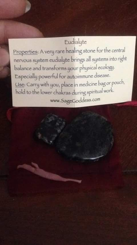 Eudialyte, rare healing stone, central nervous system, balance, body