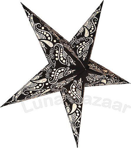 Black And White Paper Star Lantern By Cultural Intrigue 11 95 24 Inch Size