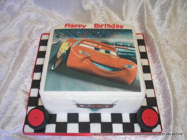Lightning Mcqueen Cake Disney cars Lightning McQueen printed