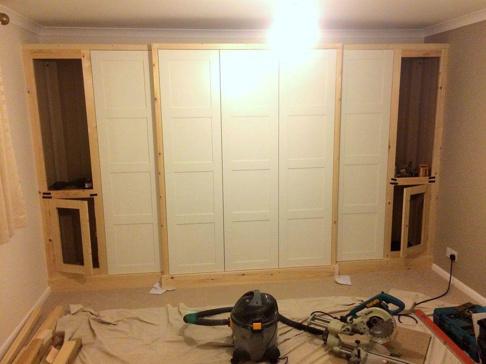 PAX traditional fitted wardrobe hack | Ikea wardrobe hack ...