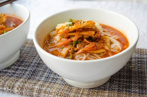 Kimchi Mari Guksu | Don't forget to check your kimchi and make sure it  doesn't include shrimp paste. | Good healthy recipes, Korean food, Korean  food blog