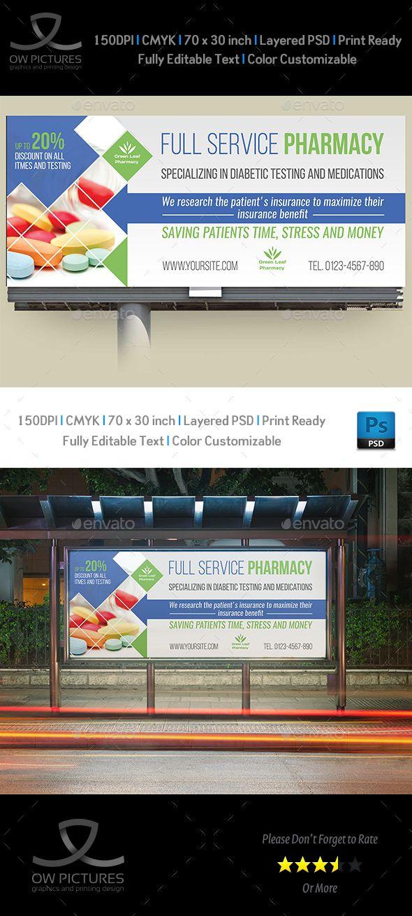 Pharmacy Billboard Template Vol.3 | Pinterest | Billboard, Billboard ...