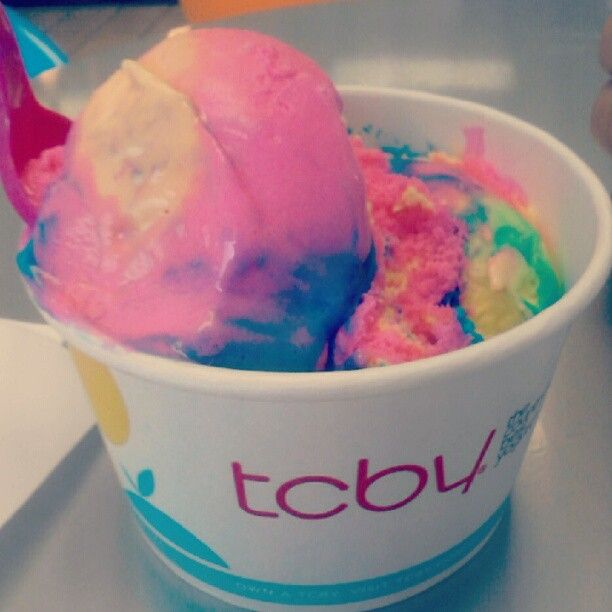 Rainbow Rainbow Rainbow Rainbow Ice Cream Tcby Ice Cream