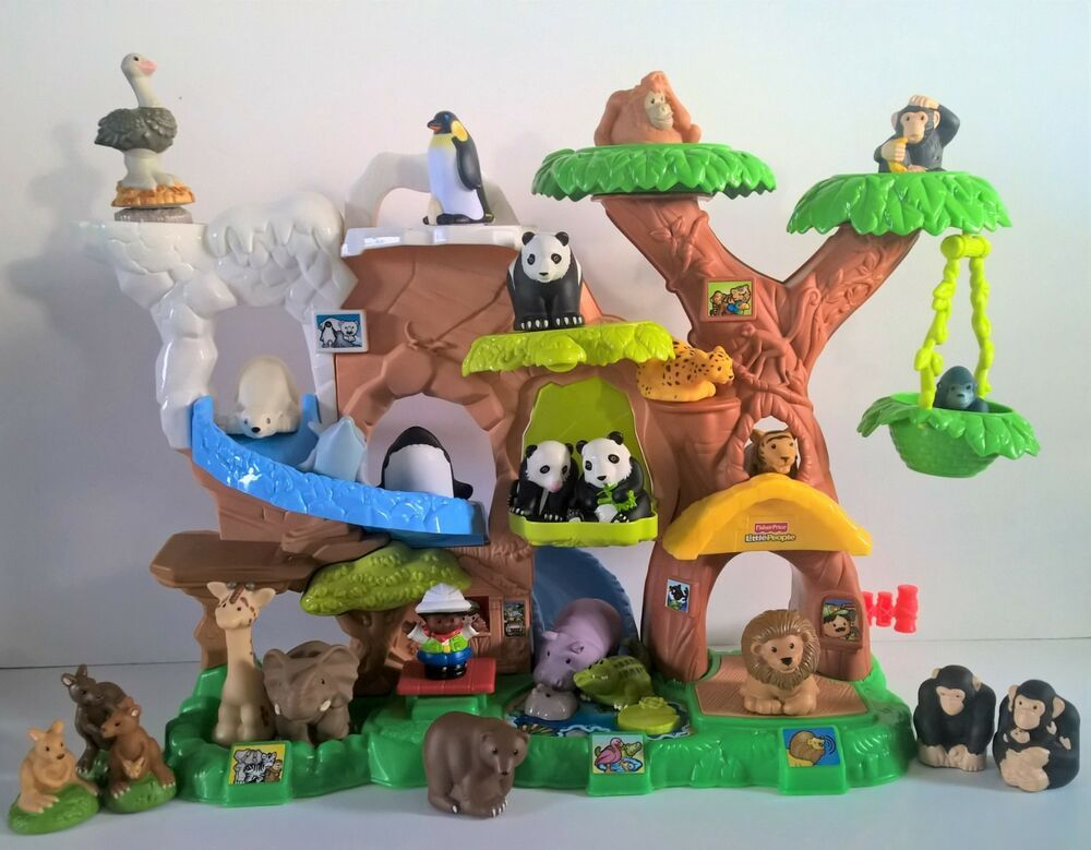 Fisher Price Little People Zoo Talkers Talking 24 Animals Zoo Keeper Fisherprice Zoo Toys Zoo Animal Sounds