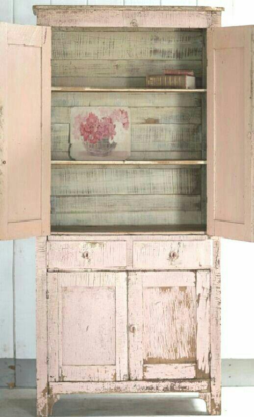 Shabby chic vintage hutch