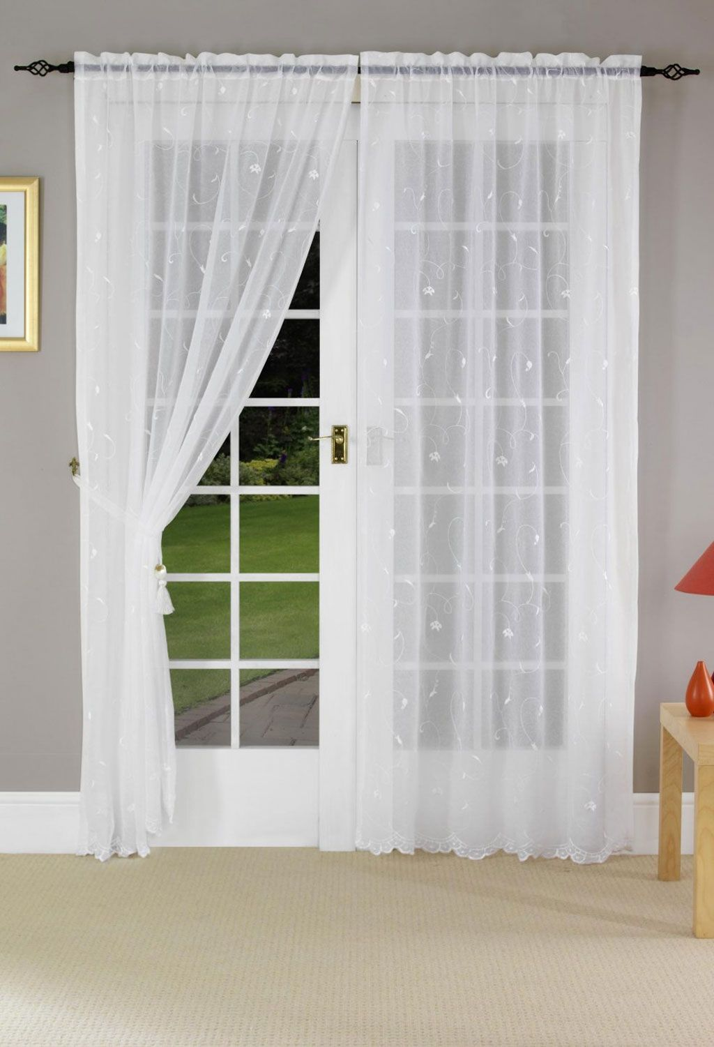 Net Curtains For Patio Doors French Door Curtains Patio