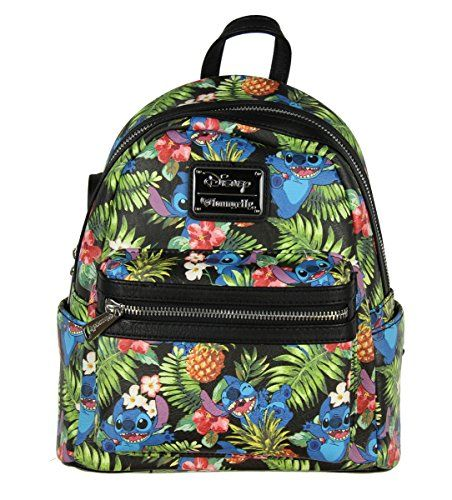 4096b7be3c3 Loungefly X Disney Stitch Pineapple AOP Mini Backpack -- You can find more  details by visiting the image link.