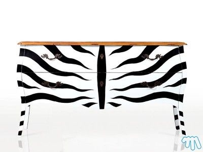 commode zebre