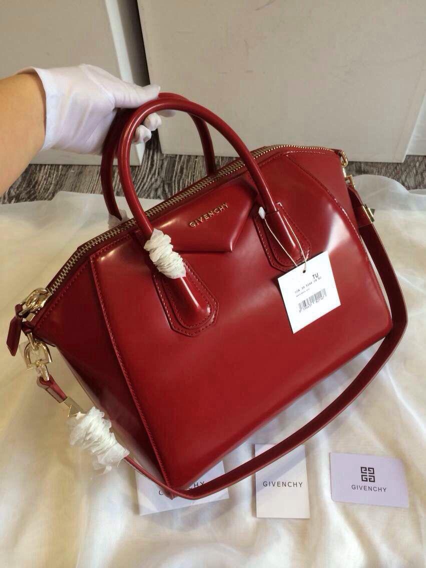 1e8eade332 Givenchy Antigona in shiny maroon red from Givenchy 2014 Fall Winter  Collection