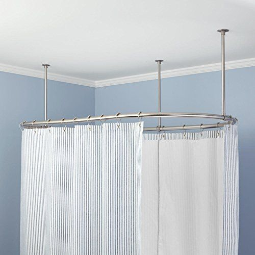 Naiture 48 L X 36 W Brass Oval Shower Curtain Rod Oil Rubbed