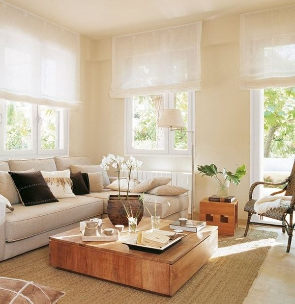 Diferentes tipos de cortinas ventanas del sal n estor y for Tipos de cortinas para salon