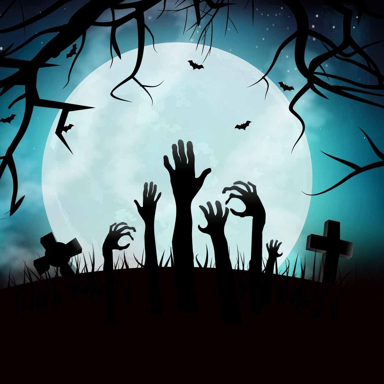 Trick No Treat Zombie Hand Halloween Icons Halloween Backgrounds