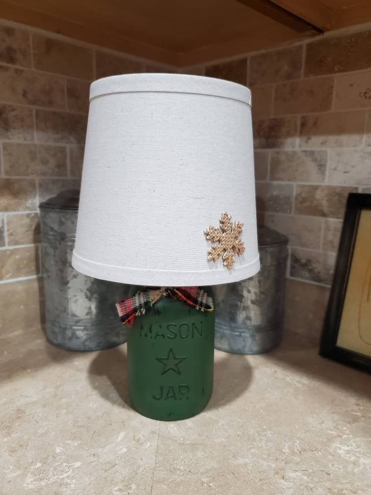Photo of Mason Jar Lamp, Mason Jar Christmas, Canning Jar Light, Christmas Lamp, Christmas Decor, Winter Decor, Country Christimas, Country Lamp