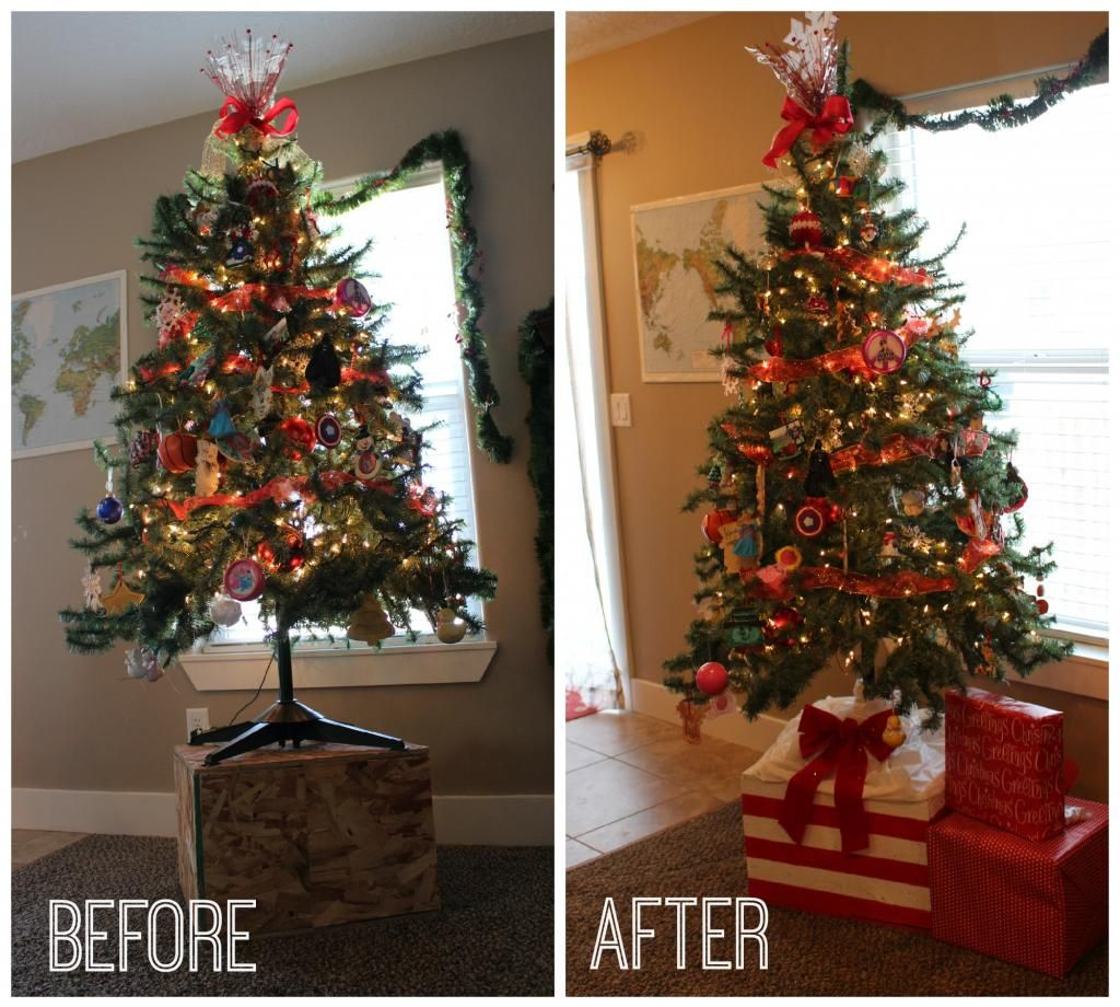 Alternative Christmas Tree Stand With Frogtape