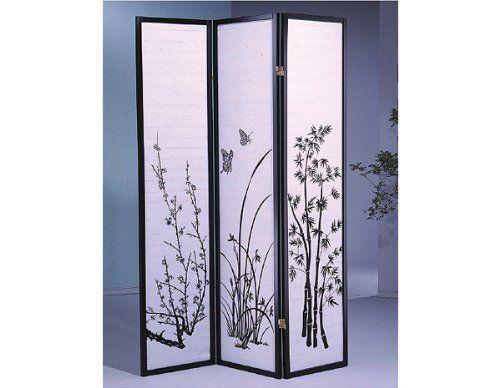 beautiful idea shoji room divider. Legacy Decor 3 panel Flower Design Wood Shoji Screen  Room Divider