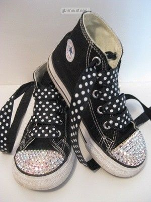 992bf60e9183 Custom Crystal Diamond baby Bling Converse shoes by glamourtoes ...
