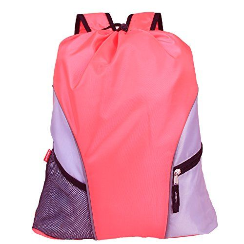 5f5cba38d1c9 Damero Lightweight Drawstring Sackpack with Straps Pockets ...