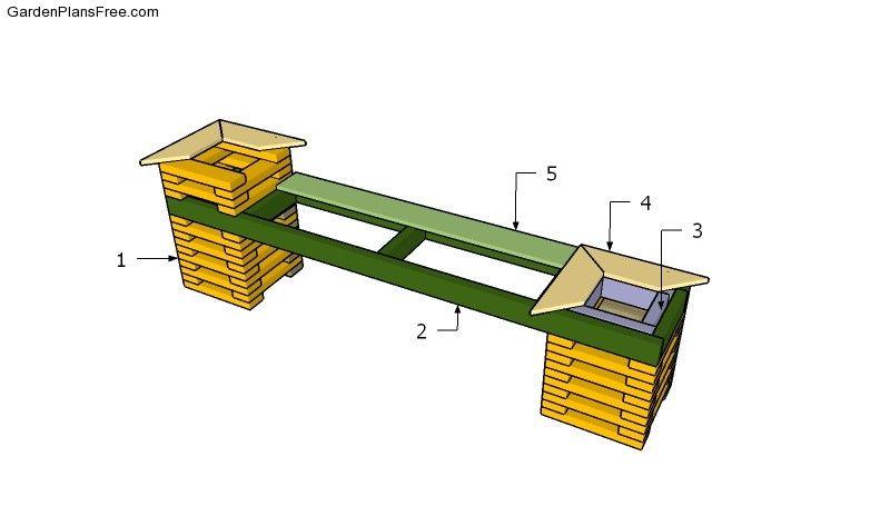 Building a garden planter bench