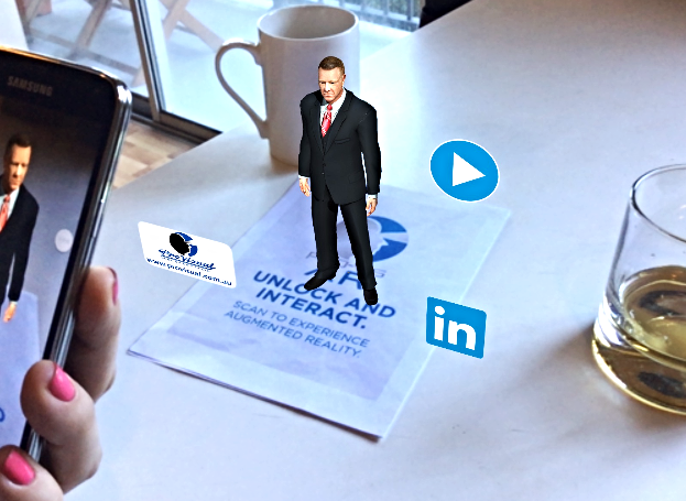 Augmented Reality Pro Visual Publishing Business Card