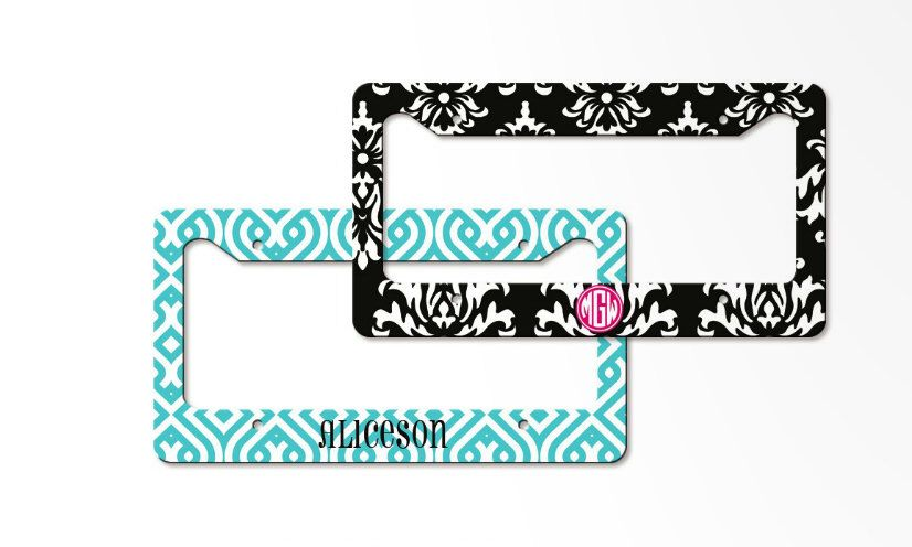 Personalized License Plate Frame -monogrammed vanity license frame ...