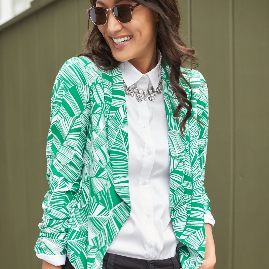 Yes you can wear bold prints print blazers and spring