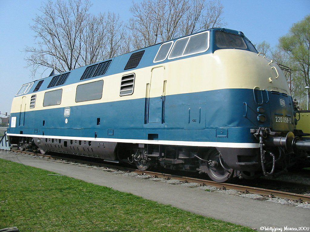 220 058-2 Deutsche Bundesbahn   Eisenbahn, Diesellok ...