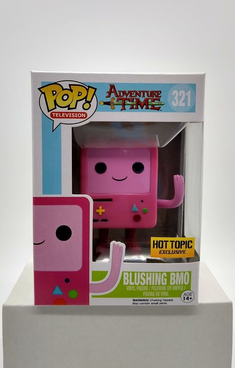 Funko Pop Television 321 Adventure Time Blushing Bmo Hot Topic Exclusive Ppg Used To Value Figures Please Refer To Pho Pop Vinyl Figures Vinyl Figures Funko