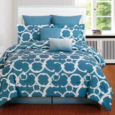 Winston Porter Margret 8 Piece Comforter Set Size Queen