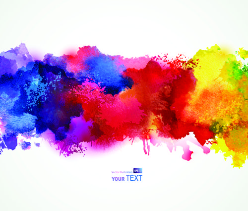 Splash Watercolor Stains Background Vector Material 04 Free Download Watercolor Splash Watercolor Splash Png Paint Splash Background
