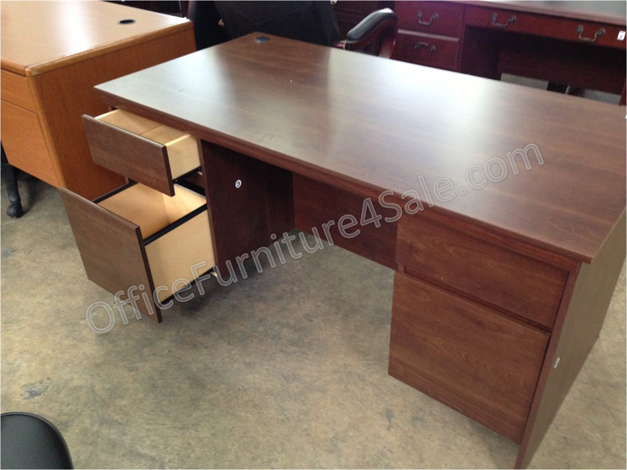 2018 Ameriwood Tiverton Executive Desk Expert Plum Home Office Furniture Collections Check More At Http