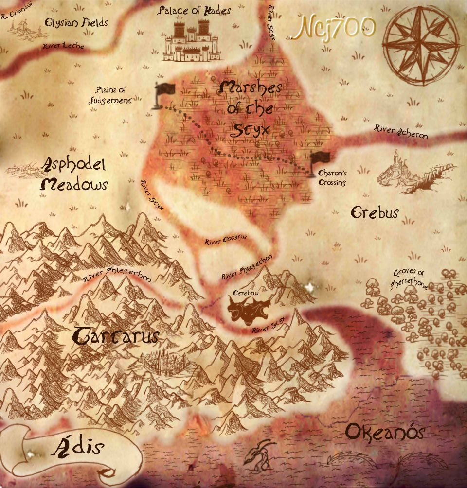 This is a map of Hades, the Underworld. When a person d ... Map Of Mythology Hades on hades son, hades prayer, hades symbols, hades scepter, hades genealogy, hades weapon, hades tattoo, hades family, hades dead, hades god, hades helmet of invisibility, hades costume, hades origin, hades statue, hades information, hades staff, hades sign, hades i'm cool, hades painting, hades greek,