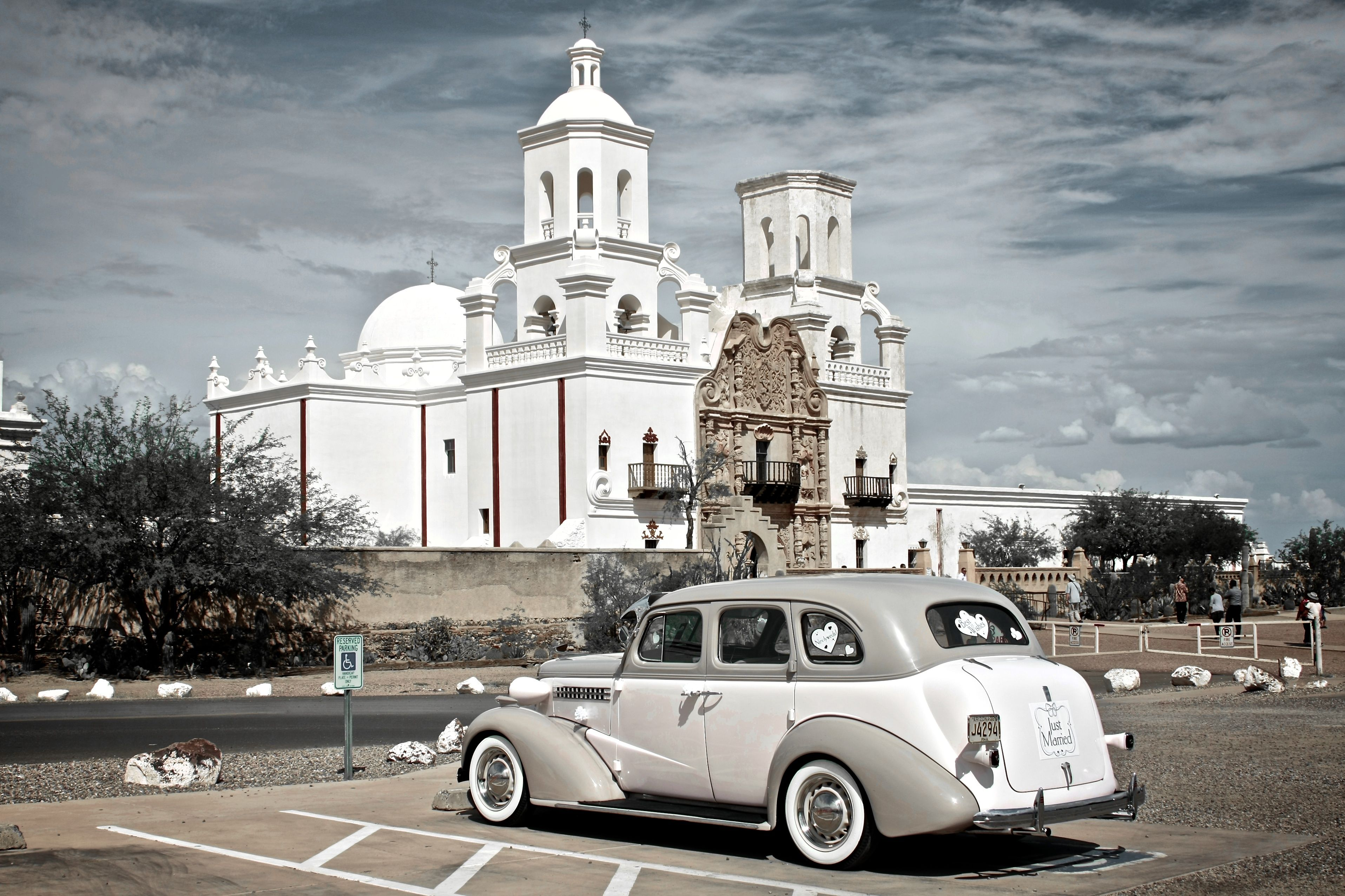 San Xavier Mission in Tucson, AZ. Taken by SuperGold Productions.