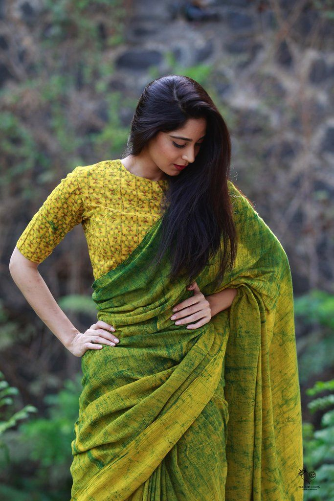 ef657cce3c Mango HBP Khadi Cotton Saree | Devaya designs & Indian outfit ...