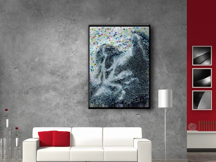 Give a minimalist look to your living space large modern print by frabor art
