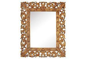 "One Kings Lane - Left Bank Luxe - Layla 33"" Mirror, Gold"