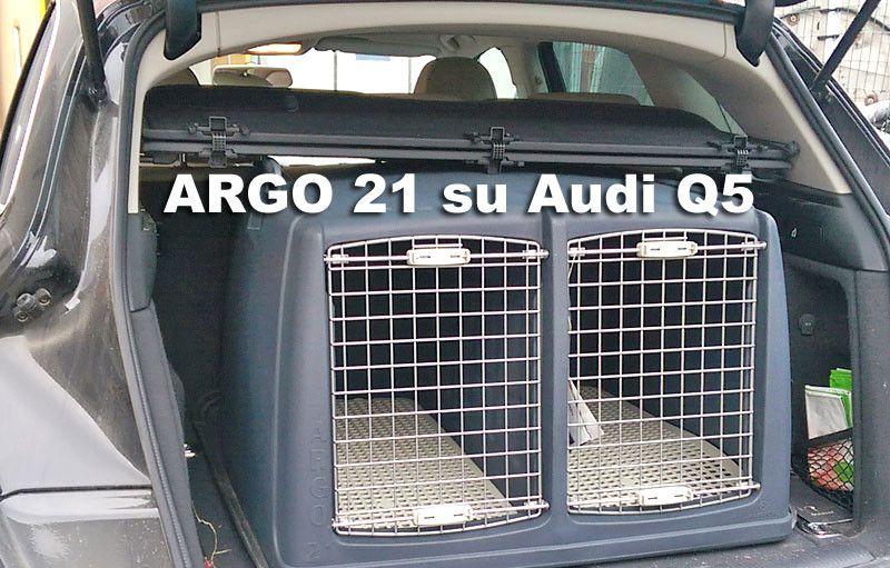 Trasportino Auto Doppio Argo 21 Per Cani Da Caccia Su Audi Q5