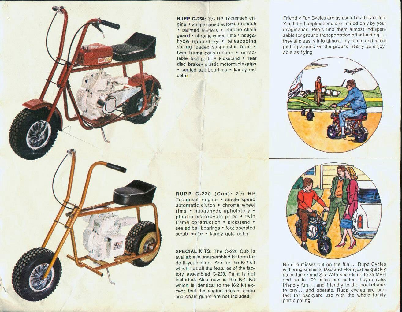 Vintage Mini Bikes Oldminibikes Com Rupp Vintage Mini Bike