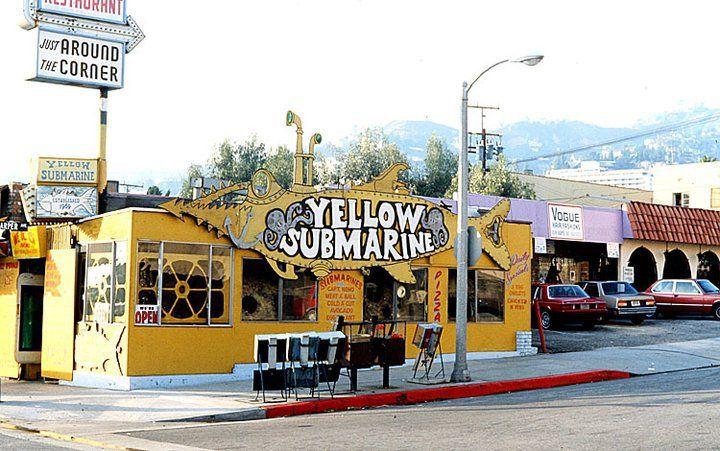Yellow Sub Santa Monica And Harper 1979 W Hollywood Los Angeles Hollywood Santa Monica Vintage Los Angeles