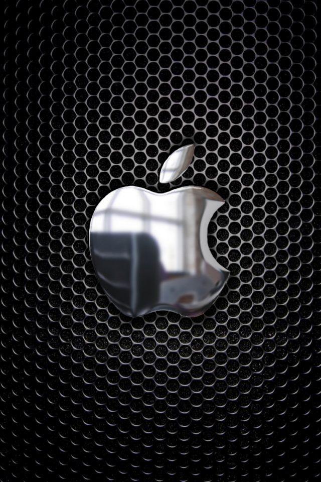 Wallpaper Iphone metal apple iphone logo Bing images