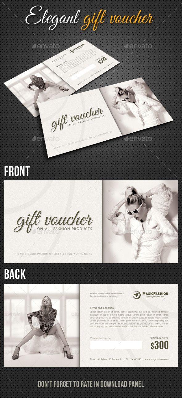 Elegant Gift Voucher V01 | Template, Elegant and Gift